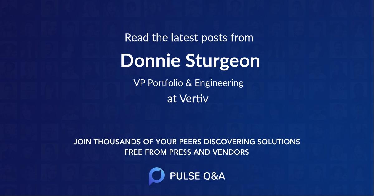 Donnie Sturgeon
