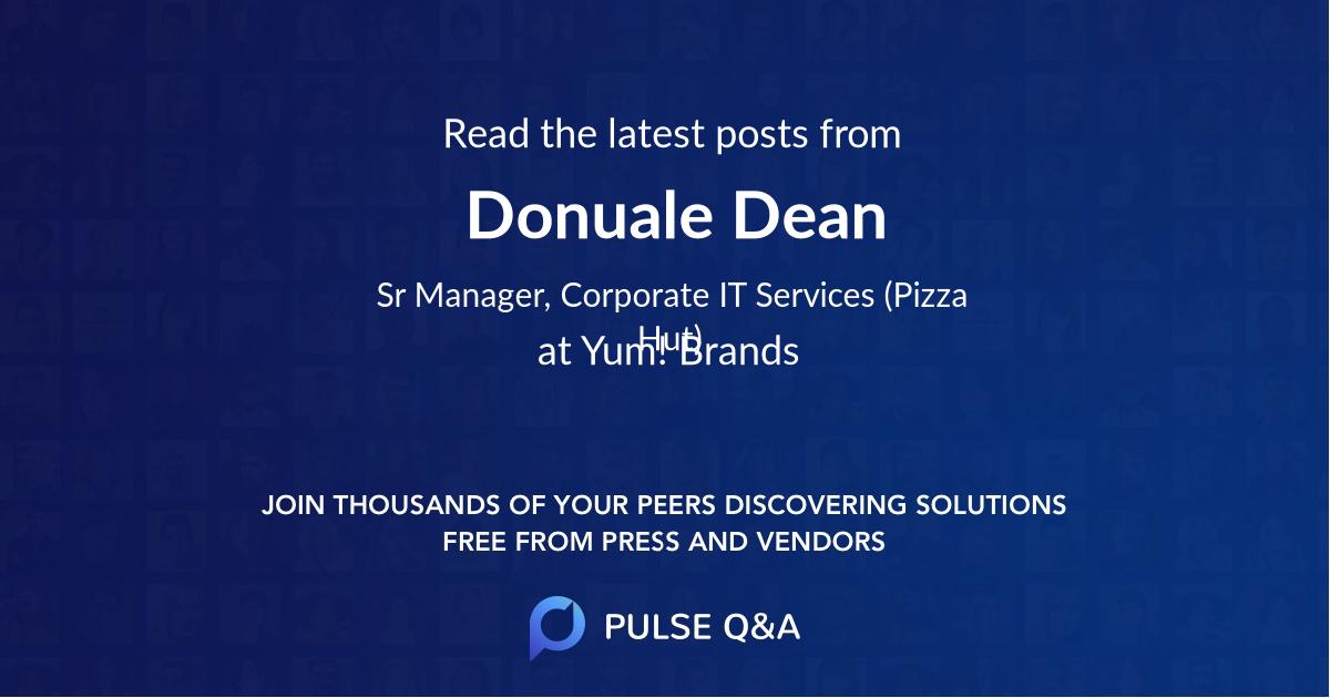 Donuale Dean