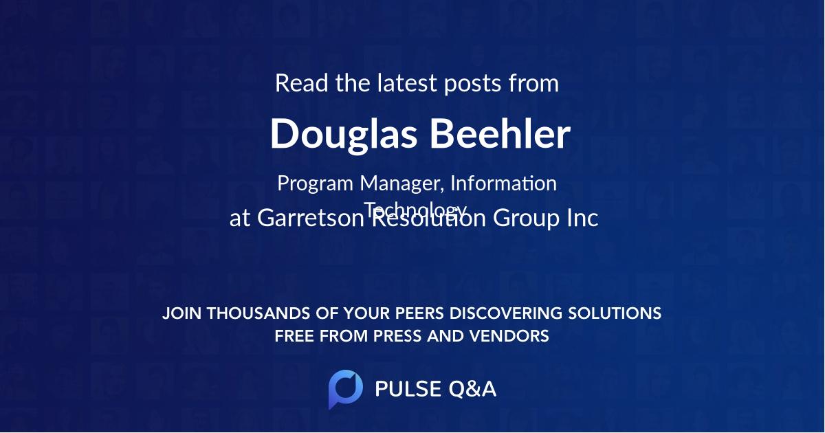 Douglas Beehler