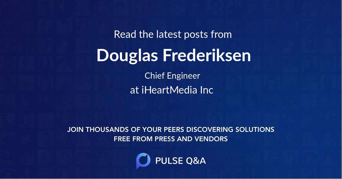 Douglas Frederiksen