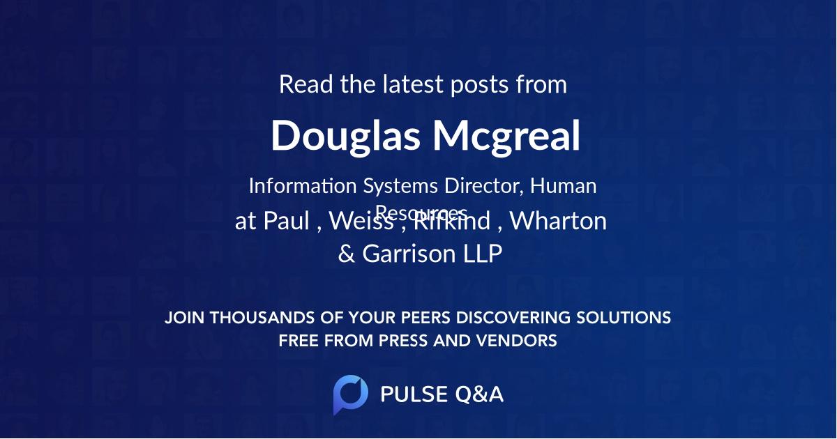 Douglas Mcgreal