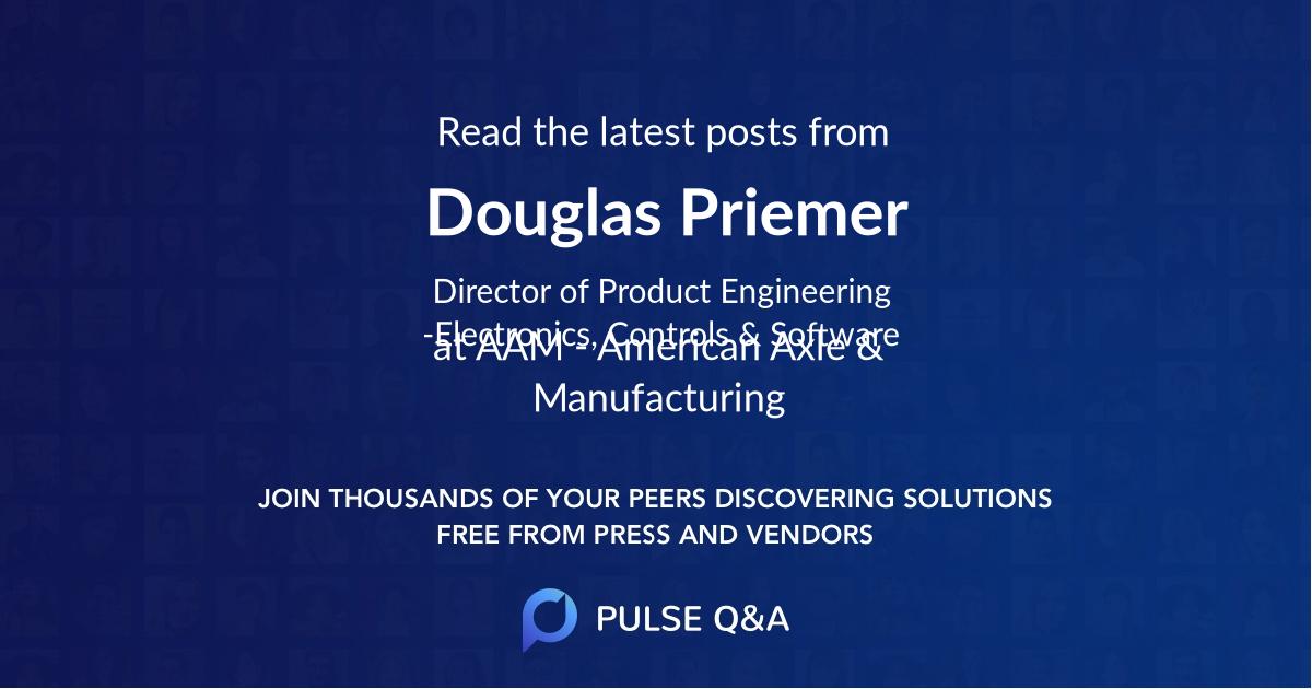 Douglas Priemer