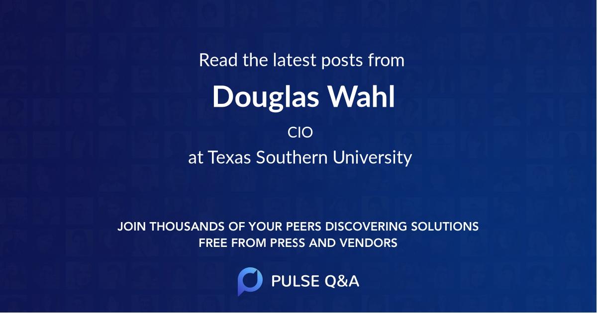 Douglas Wahl