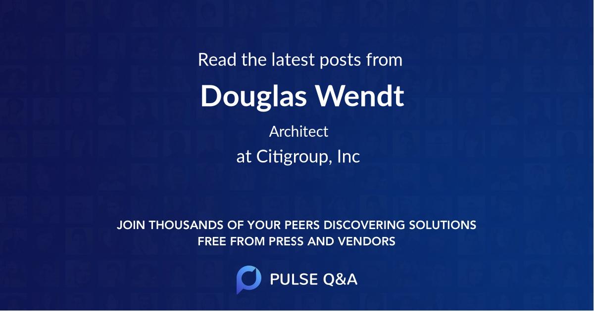 Douglas Wendt