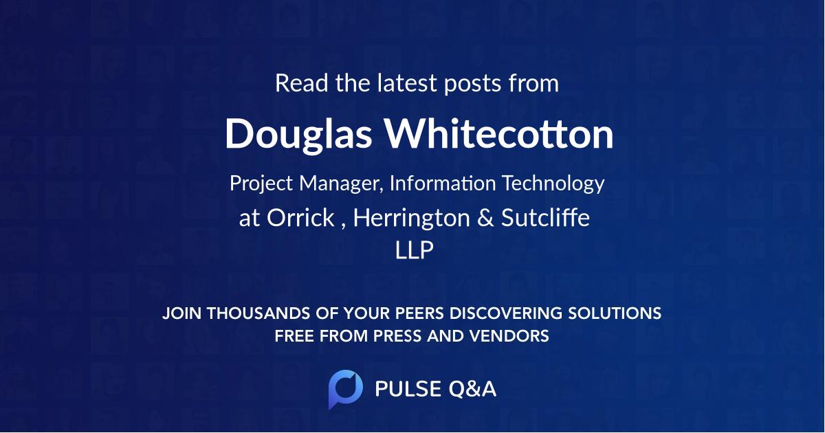 Douglas Whitecotton