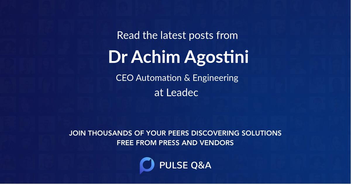 Dr. Achim Agostini