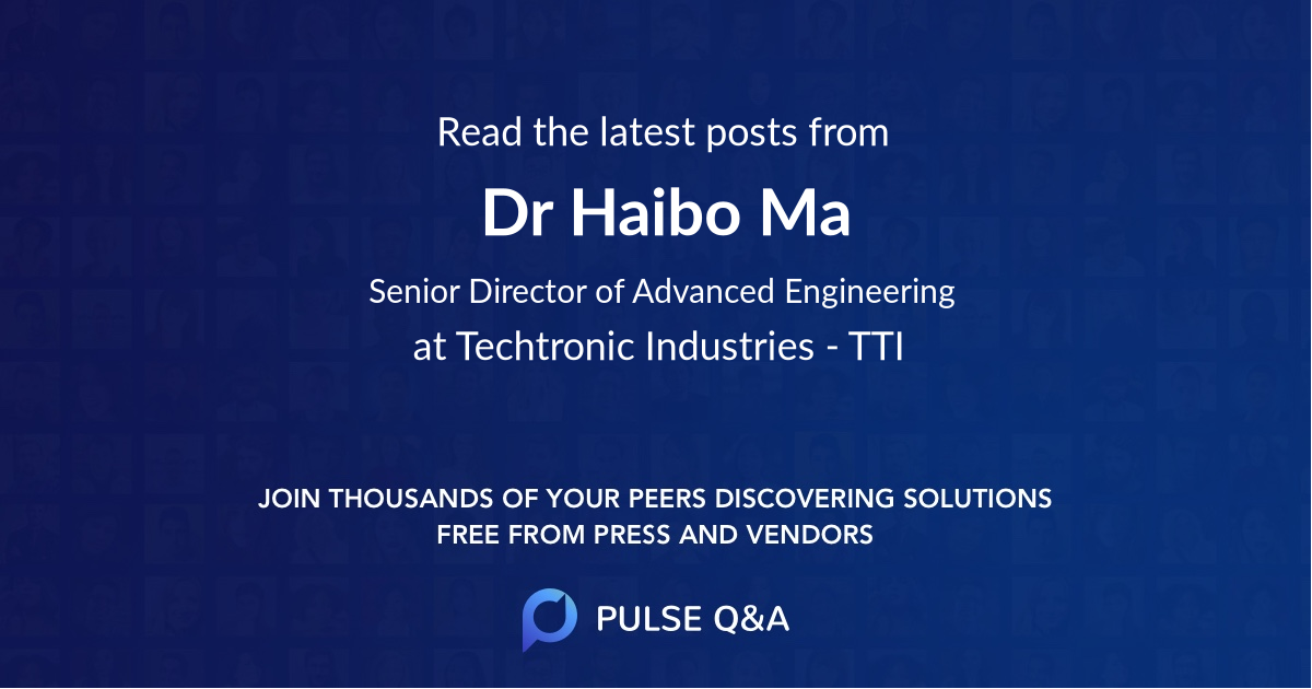Dr. Haibo Ma