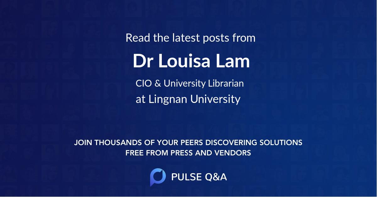 Dr. Louisa Lam