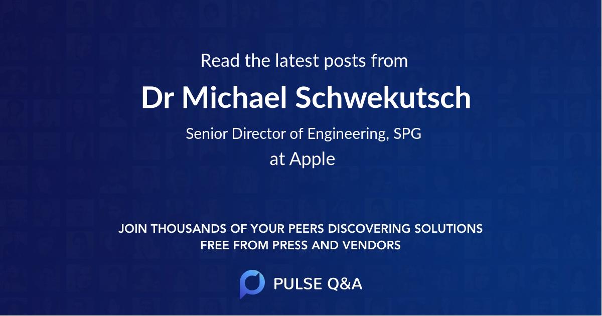 Dr. Michael Schwekutsch