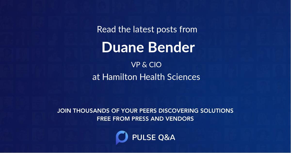 Duane Bender