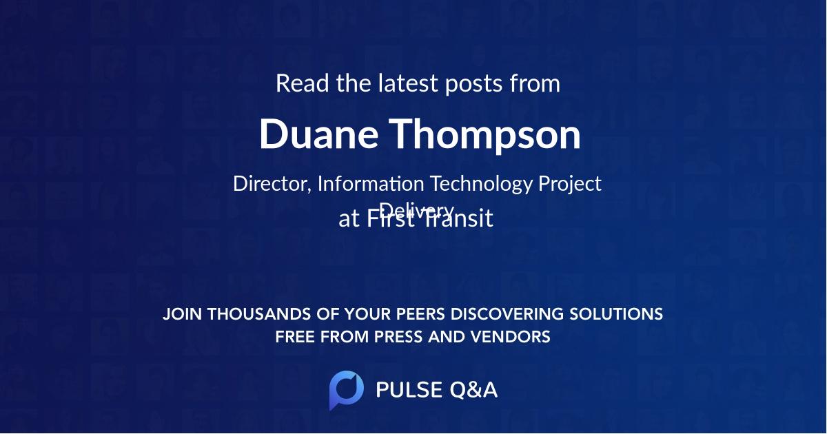 Duane Thompson