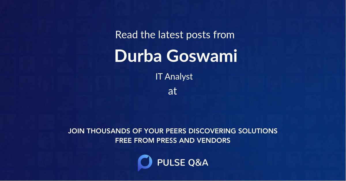 Durba Goswami