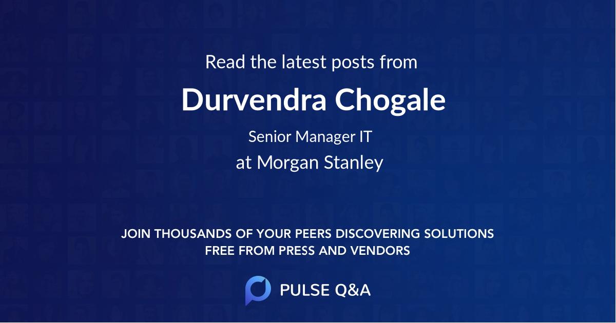 Durvendra Chogale