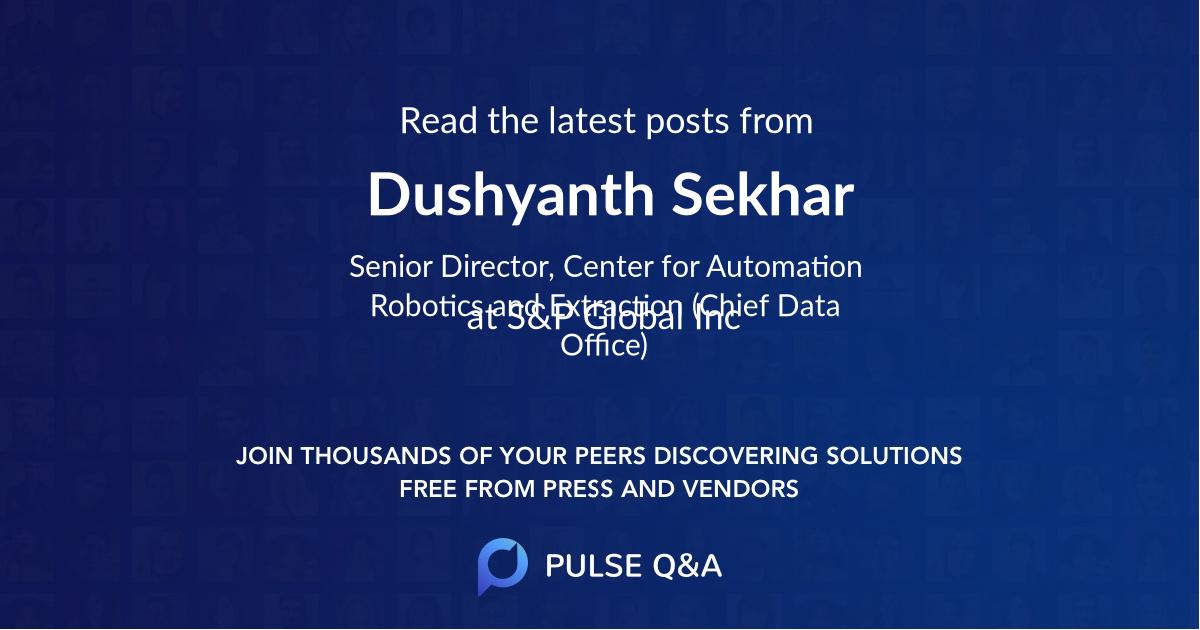 Dushyanth Sekhar
