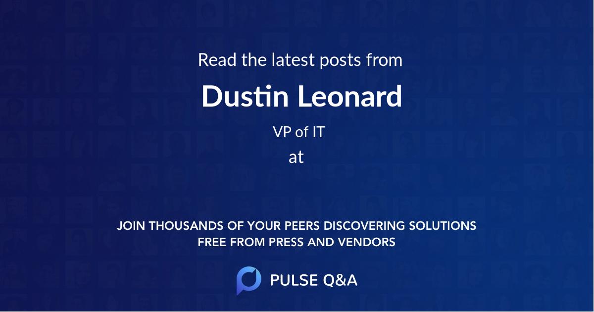 Dustin Leonard