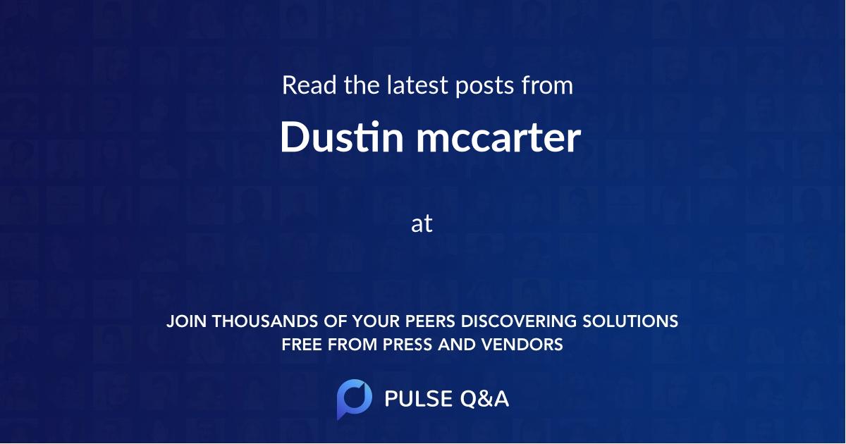 Dustin mccarter
