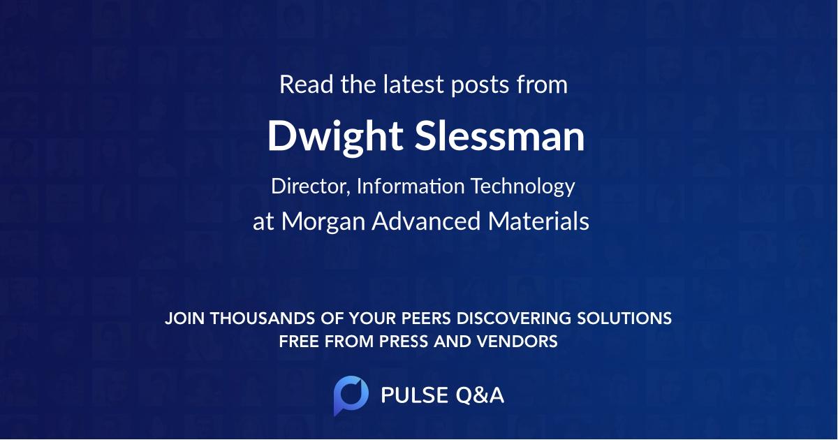 Dwight Slessman