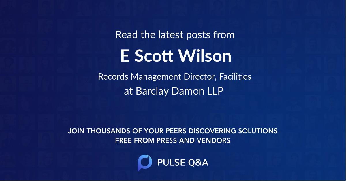 E. Scott Wilson