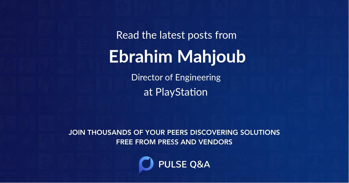 Ebrahim Mahjoub
