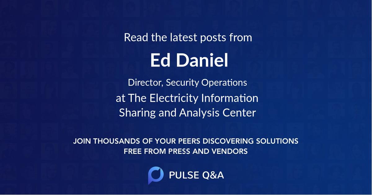 Ed Daniel