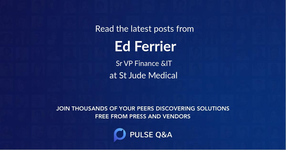 Ed Ferrier