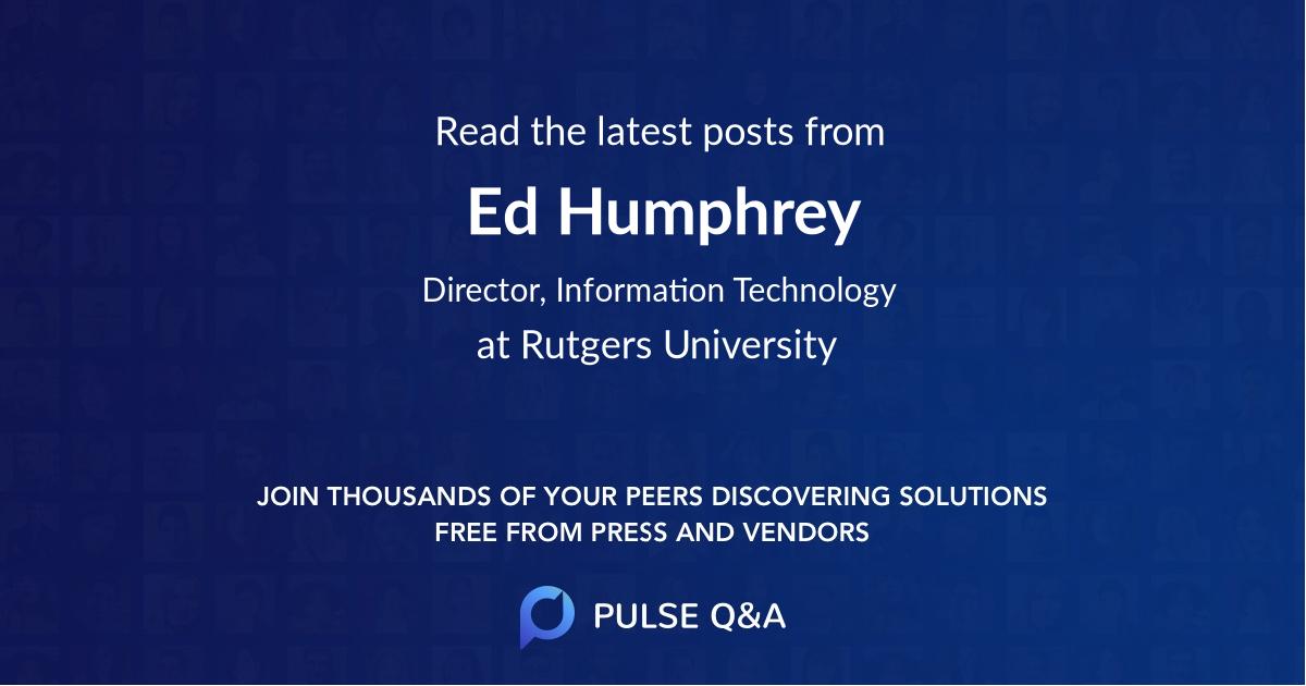 Ed Humphrey