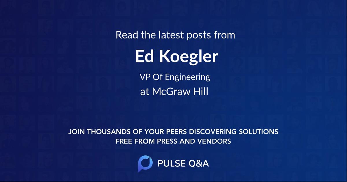 Ed Koegler