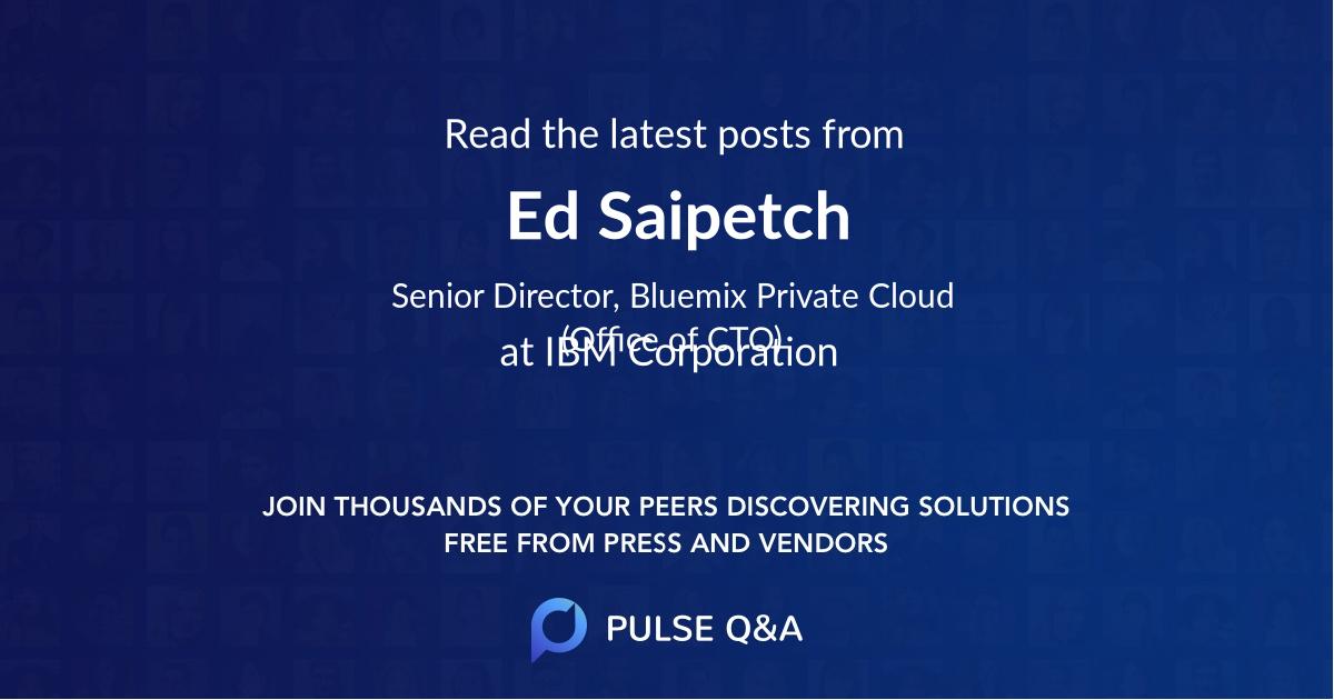 Ed Saipetch