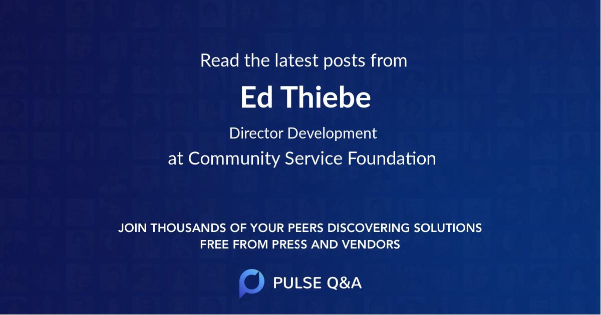 Ed Thiebe