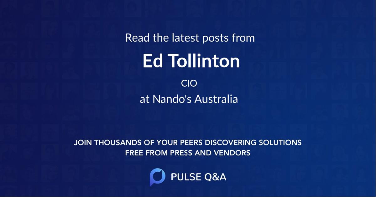 Ed Tollinton