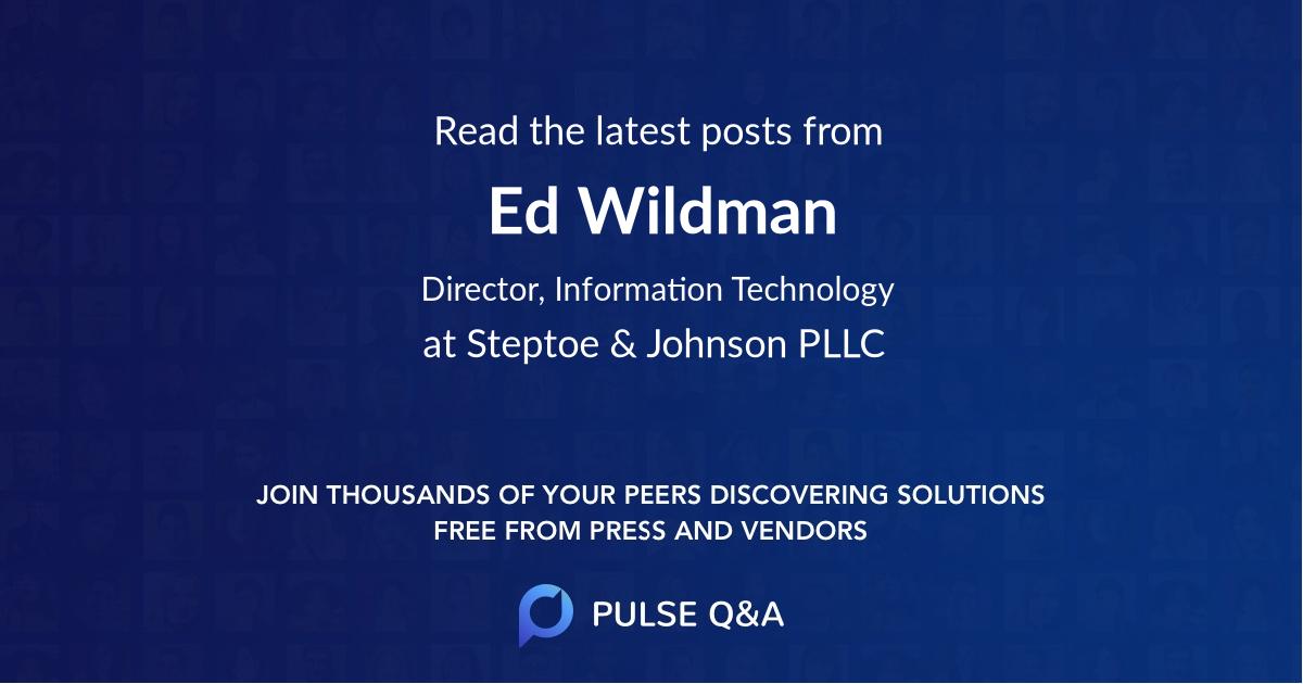 Ed Wildman
