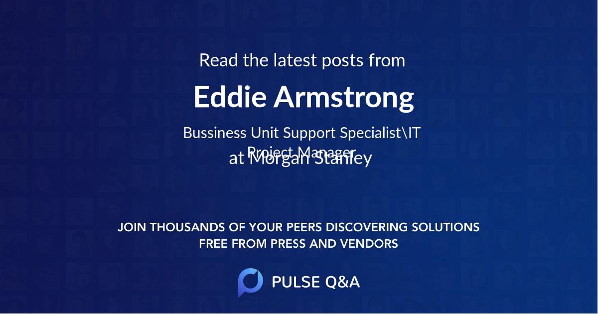 Eddie Armstrong