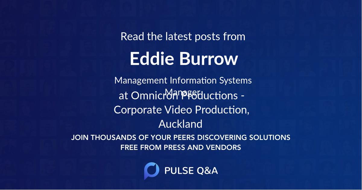 Eddie Burrow