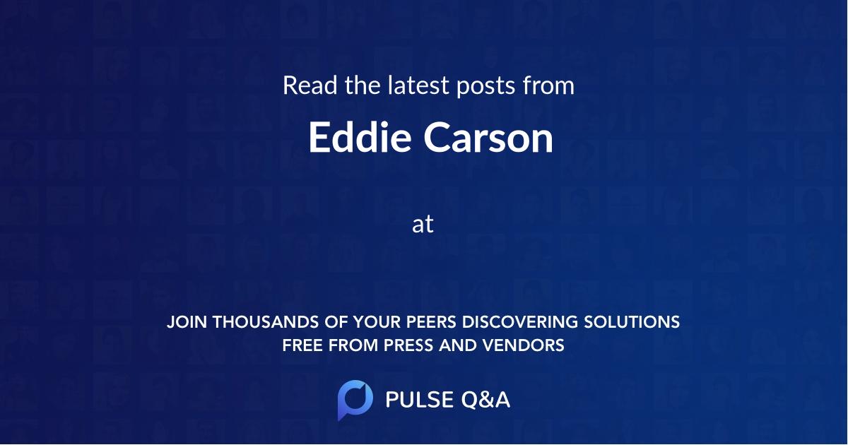 Eddie Carson