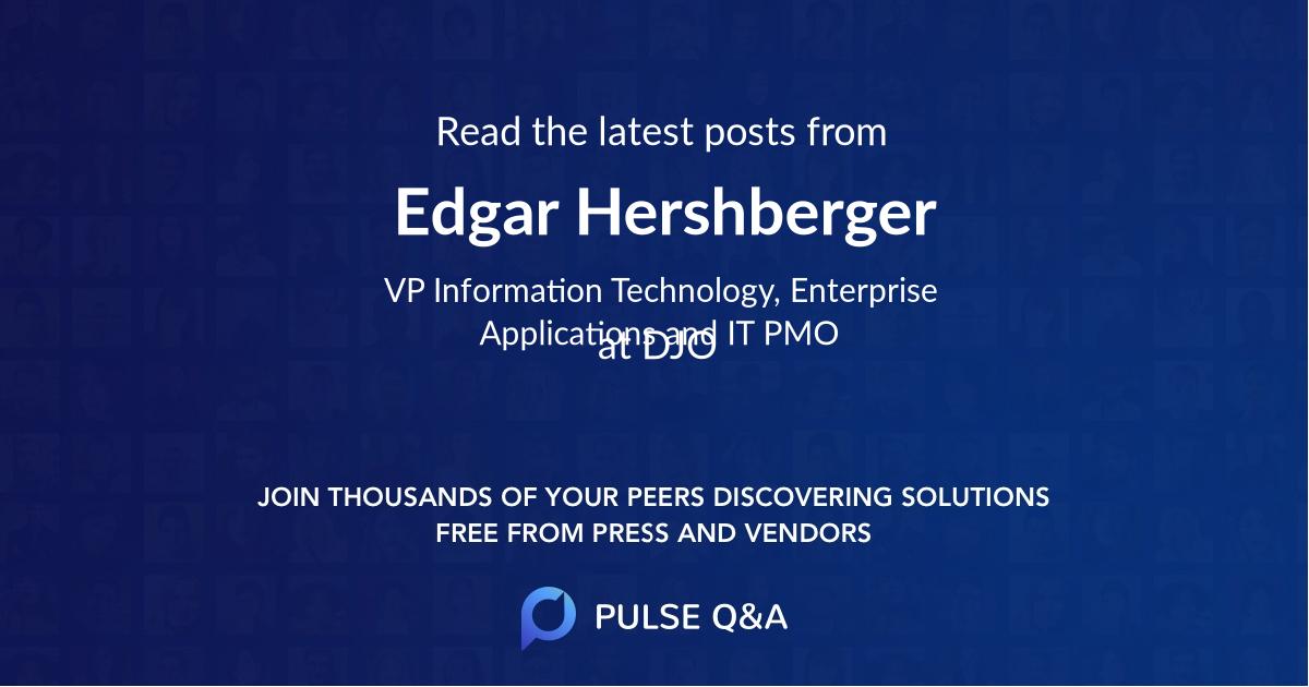 Edgar Hershberger