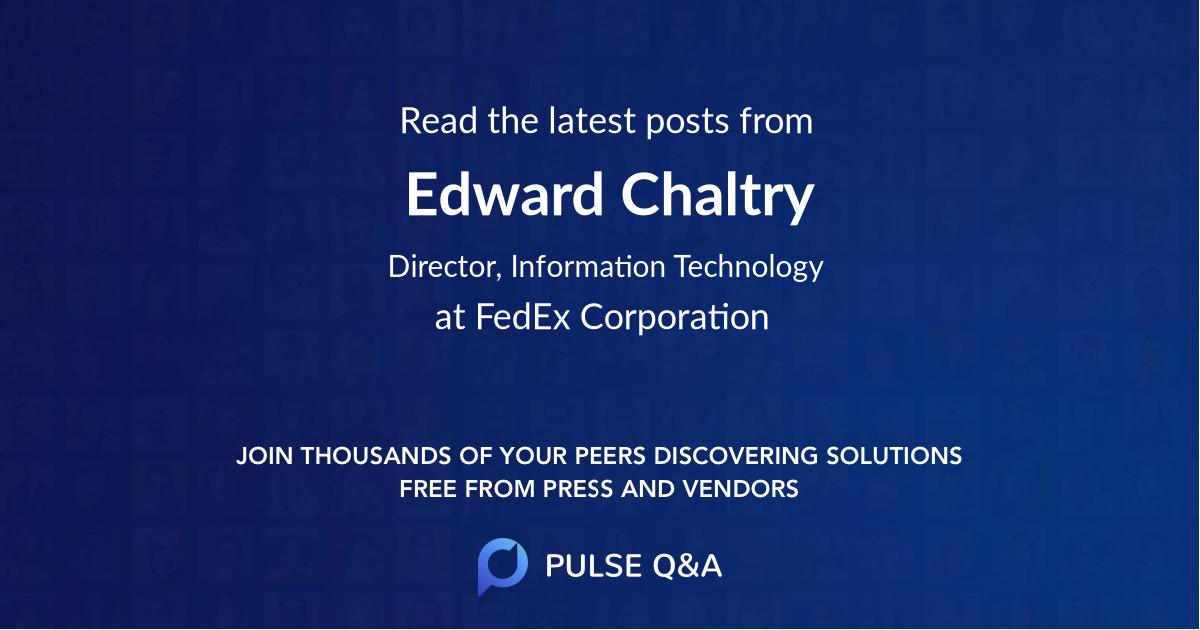Edward Chaltry
