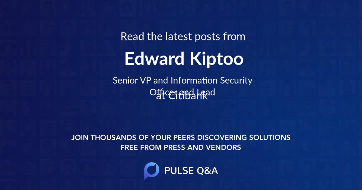 Edward Kiptoo