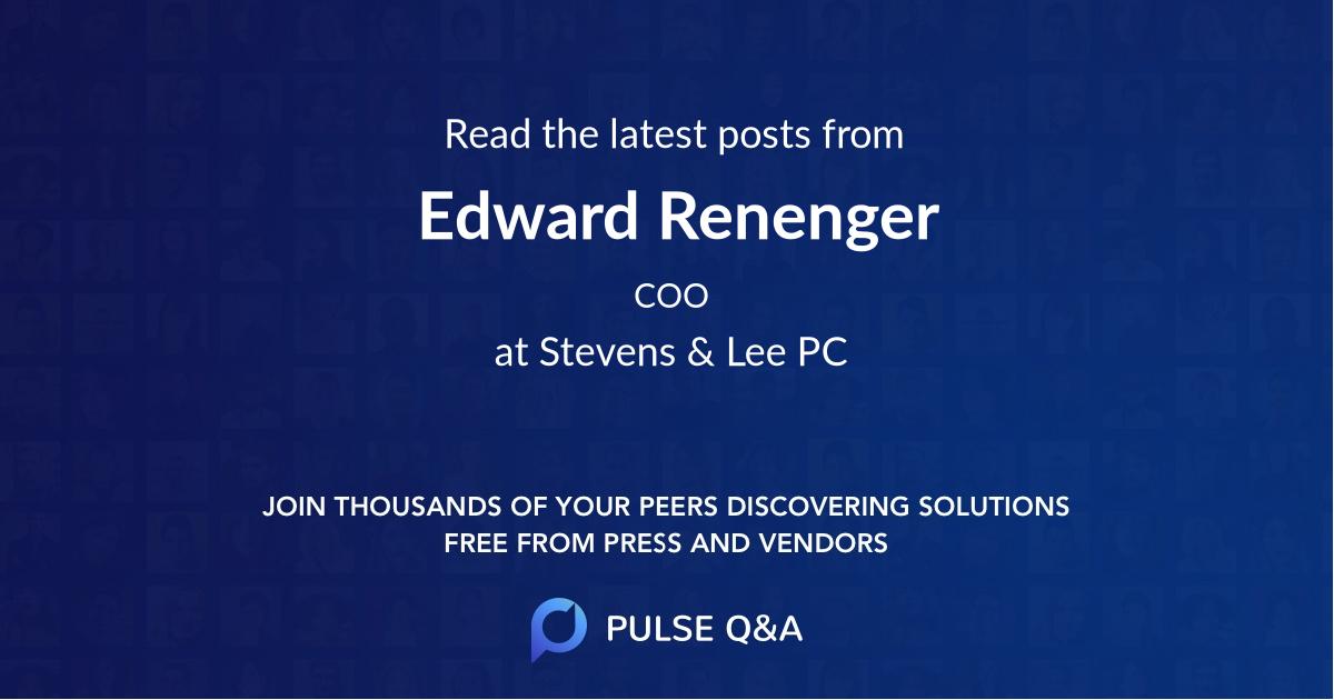 Edward Renenger