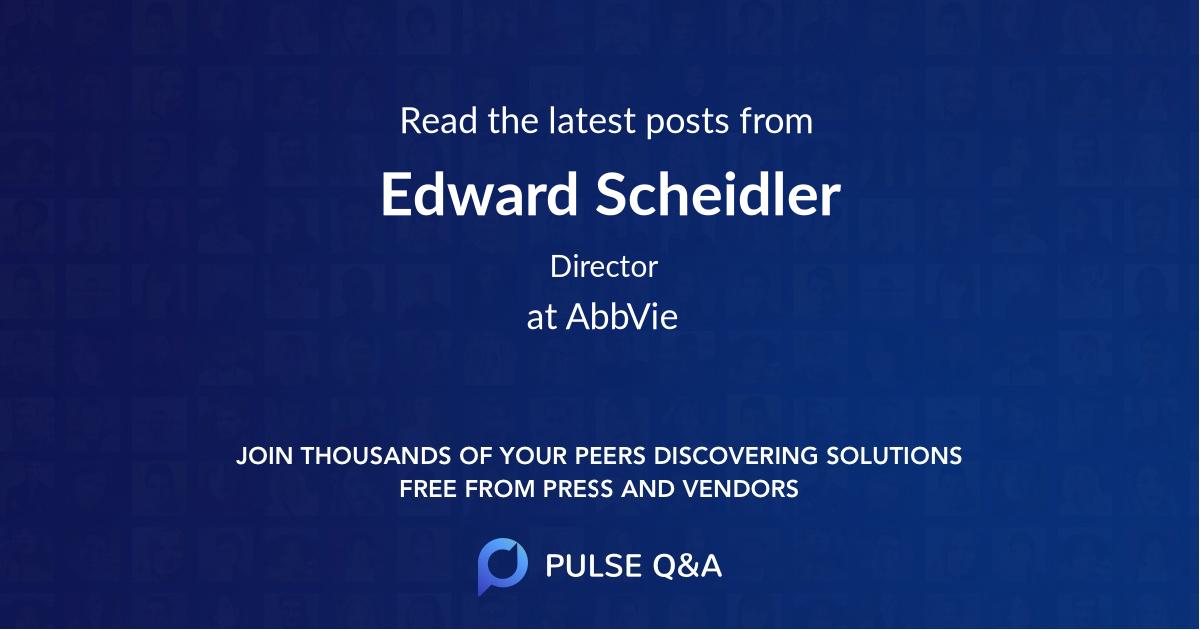 Edward Scheidler