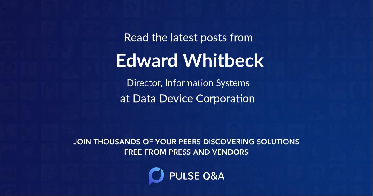 Edward Whitbeck