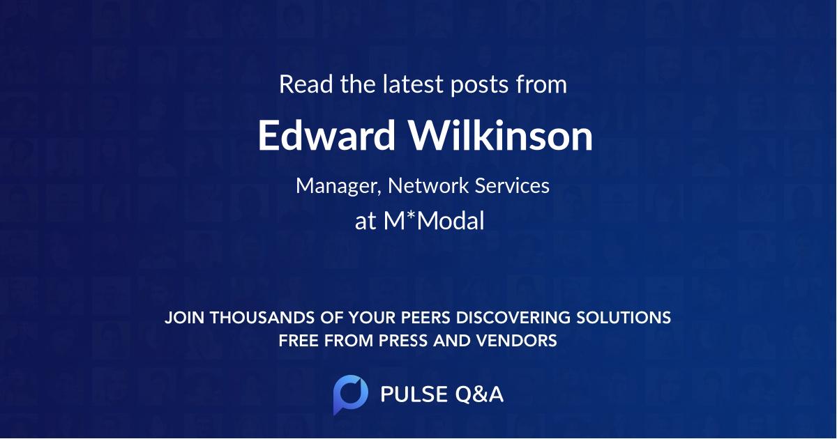Edward Wilkinson