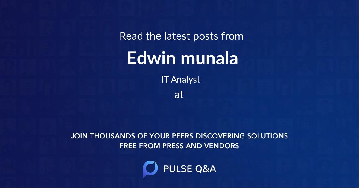 Edwin munala
