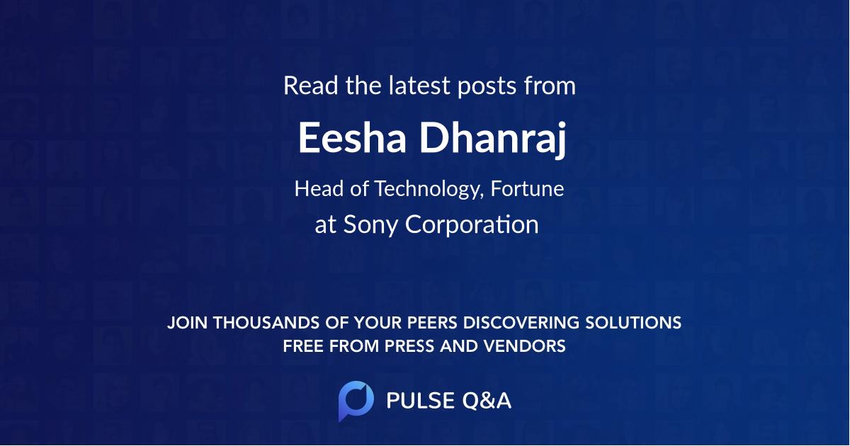Eesha Dhanraj
