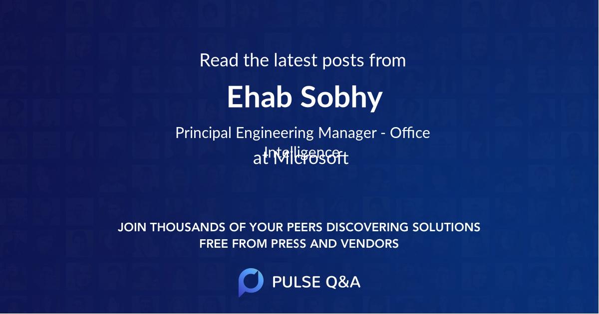 Ehab Sobhy