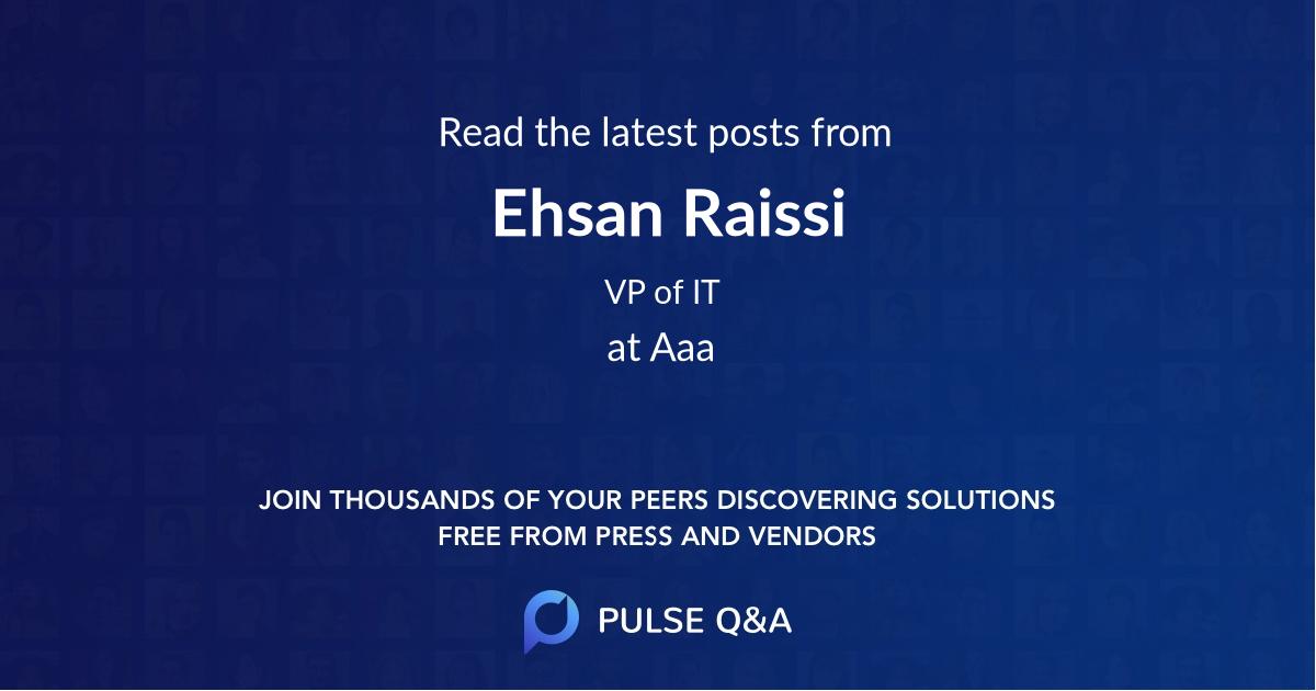 Ehsan Raissi