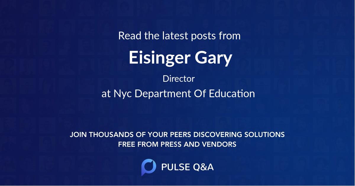 Eisinger Gary