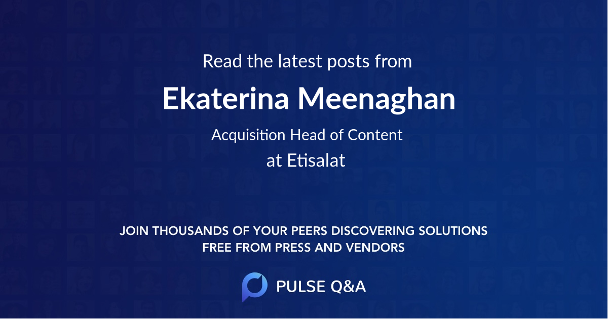 Ekaterina Meenaghan