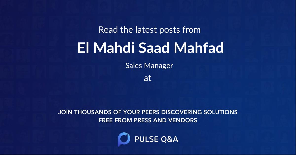 El Mahdi Saad Mahfad