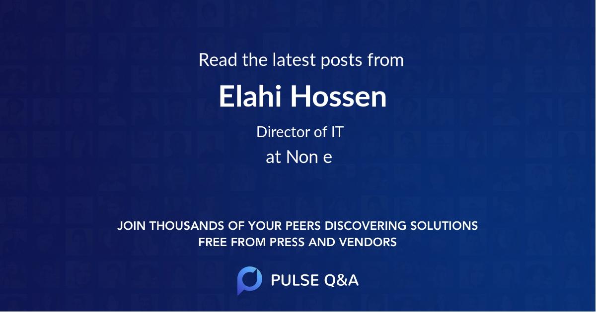 Elahi Hossen