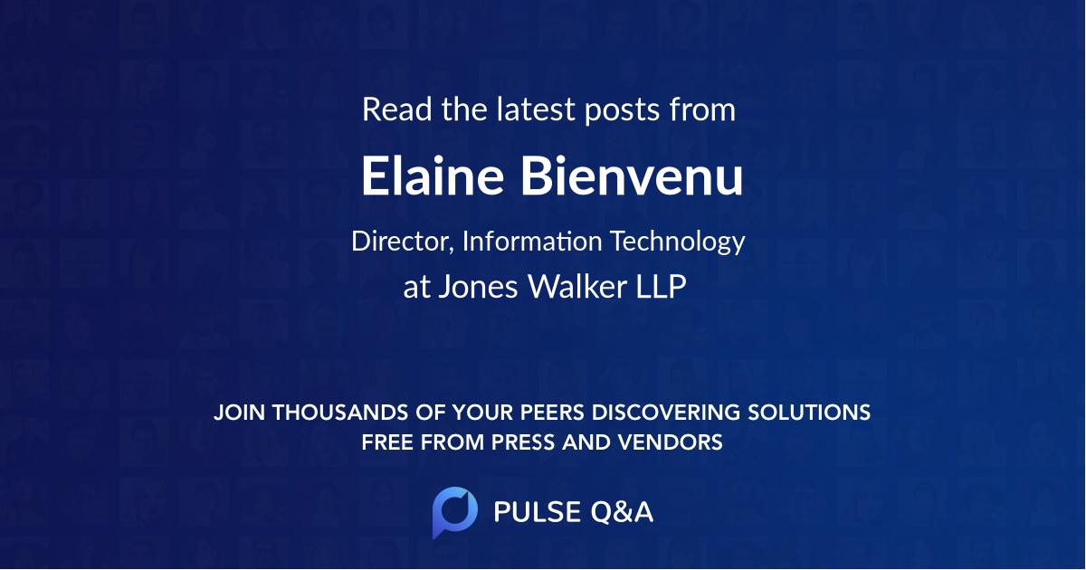 Elaine Bienvenu